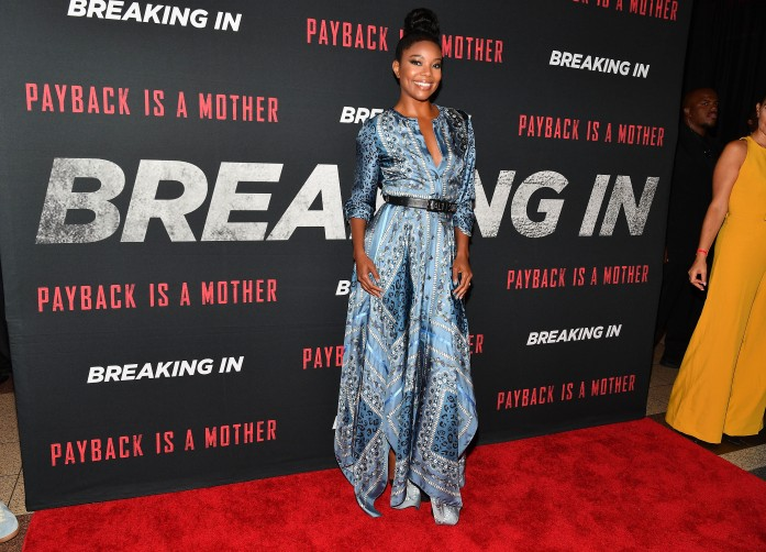 "ATLANTA, GA - APRIL 22: Actress Gabrielle Union attends ""Breaking In"" Atlanta Private Screening at Regal Atlantic Station on April 22, 2018 in Atlanta, Georgia. (Photo by Paras Griffin/Getty Images for Universal Studios)"