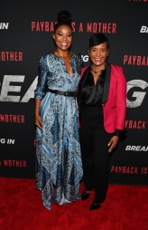 "ATLANTA, GA - APRIL 22: Actress Gabrielle Union and Atlanta mayor Keisha Lance Bottoms attend ""Breaking In"" Atlanta Private Screening at Regal Atlantic Station on April 22, 2018 in Atlanta, Georgia. (Photo by Paras Griffin/Getty Images for Universal Studios)"