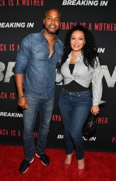 "ATLANTA, GA - APRIL 22: DJ Fadelf and Egypt Sherrod attend ""Breaking In"" Atlanta Private Screening at Regal Atlantic Station on April 22, 2018 in Atlanta, Georgia. (Photo by Paras Griffin/Getty Images for Universal Studios)"