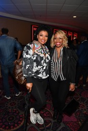 "ATLANTA, GA - APRIL 22: Syleena Johnson and Kiana Dancie attend ""Breaking In"" Atlanta Private Screening at Regal Atlantic Station on April 22, 2018 in Atlanta, Georgia. (Photo by Paras Griffin/Getty Images for Universal Studios)"